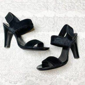 Pedro Garcia Calf Hair Black Strappy Heels - EU 37